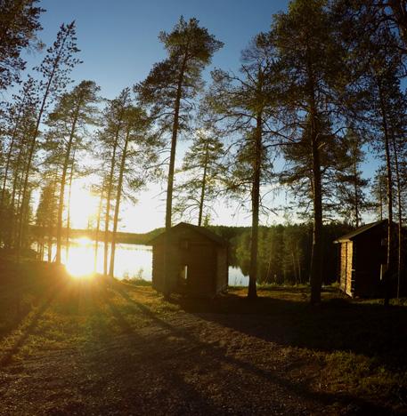 Auringonlasku Kuusamo